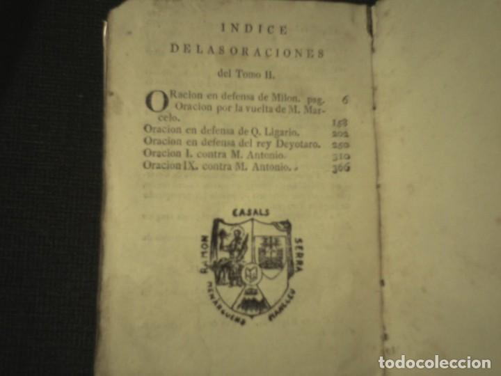 Libros antiguos: 1808 Oraciones escogidas de M.T. Ciceron, traducidas del latin por don Rodrigo de Oviedo 1808 - Foto 4 - 111178103
