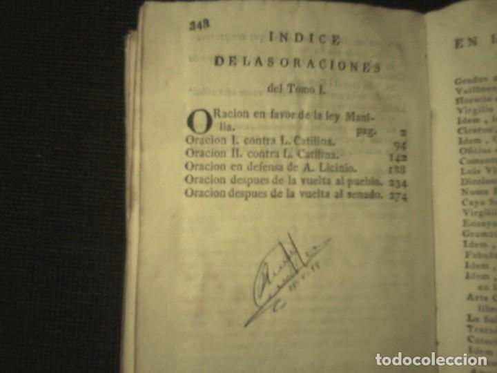 Libros antiguos: 1808 Oraciones escogidas de M.T. Ciceron, traducidas del latin por don Rodrigo de Oviedo 1808 - Foto 5 - 111178103