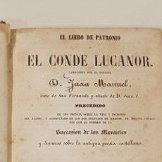 Libros antiguos: EL LIBRO DE PETRONIO O EL CONDE LUCANOR (BARCELONA 1853). Lote 111477907