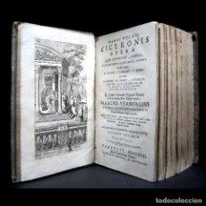 Libros antiguos: AÑO 1731 CICERÓN CARTAS A ÁTICO CARTAS A SU HERMANO VENECIA FRONTISPICIO GRABADO ANTIGUA ROMA. Lote 111535731