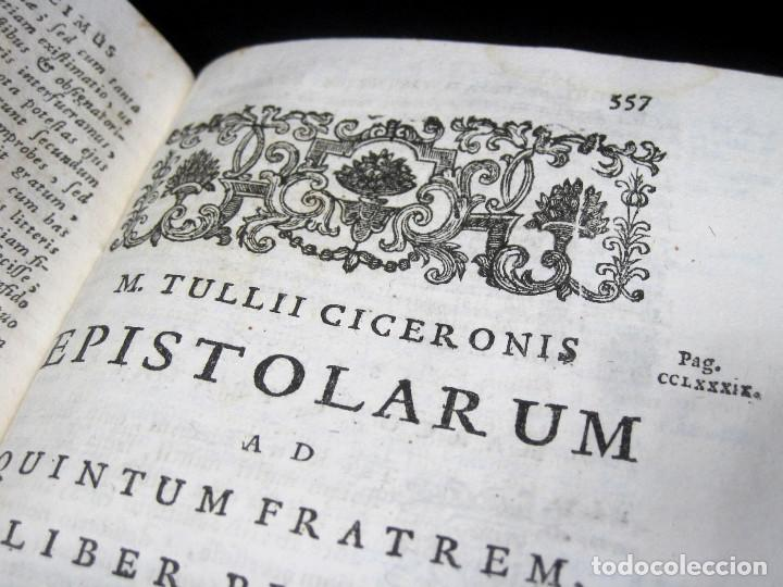 Libros antiguos: Año 1731 Cicerón Cartas a Ático Cartas a su hermano Venecia Frontispicio grabado Antigua Roma - Foto 12 - 111535731