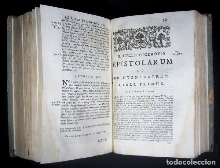 Libros antiguos: Año 1731 Cicerón Cartas a Ático Cartas a su hermano Venecia Frontispicio grabado Antigua Roma - Foto 14 - 111535731