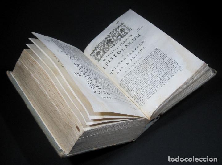 Libros antiguos: Año 1731 Cicerón Cartas a Ático Cartas a su hermano Venecia Frontispicio grabado Antigua Roma - Foto 15 - 111535731