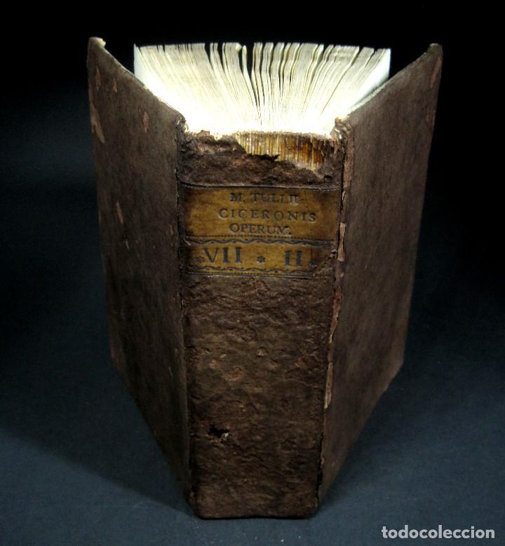 Libros antiguos: Año 1731 Cicerón Cartas a Ático Cartas a su hermano Venecia Frontispicio grabado Antigua Roma - Foto 19 - 111535731
