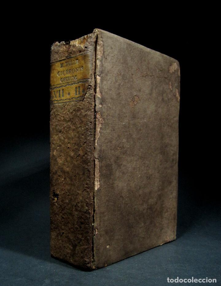 Libros antiguos: Año 1731 Cicerón Cartas a Ático Cartas a su hermano Venecia Frontispicio grabado Antigua Roma - Foto 20 - 111535731