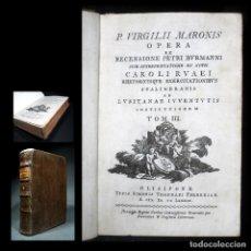 Libros antiguos: AÑO 1789 LA ENEIDA DE VIRGILIO OLISIPONE CLÁSICOS GRECOLATINOS ANTIGUA ROMA 230 AÑOS DE ANTIGÜEDAD. Lote 111572147