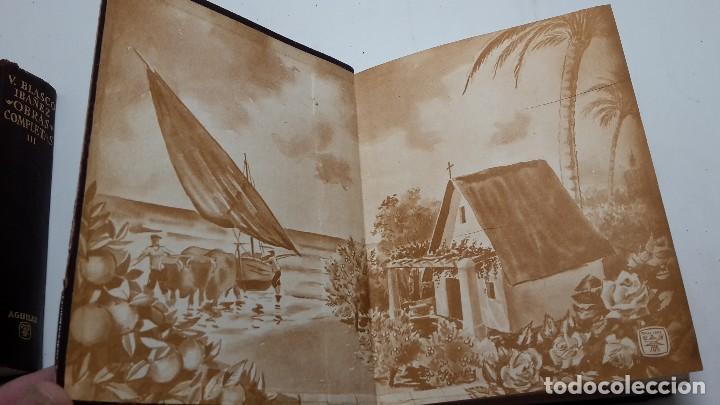 Libros antiguos: OBRAS COMPLETAS DE VICENTE BLASCO IBAÑEZ (3 TOMOS), EDITORIAL AGUILAR, 1961 - Foto 3 - 111809111