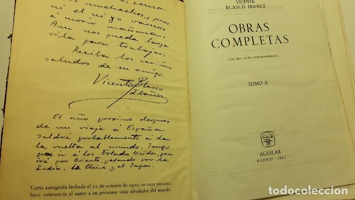 Libros antiguos: OBRAS COMPLETAS DE VICENTE BLASCO IBAÑEZ (3 TOMOS), EDITORIAL AGUILAR, 1961 - Foto 6 - 111809111