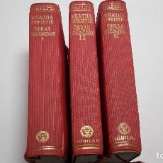 Libros antiguos: AGATHA CRISTIE, OBRAS, 3 TOMOS. ED. AGUILAR . EDICIÓN 1957. Lote 111814095