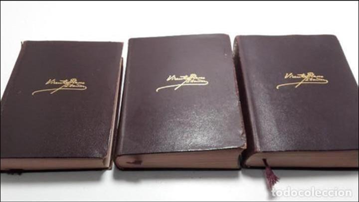 OBRAS COMPLETAS DE VICENTE BLASCO IBAÑEZ (3 TOMOS), EDITORIAL AGUILAR, 1961 (Libros antiguos (hasta 1936), raros y curiosos - Literatura - Narrativa - Clásicos)