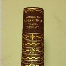 Libros antiguos: MIGUEL DE UNAMUNO, TEATRO COMPLETO, AGUILAR, . Lote 111816047