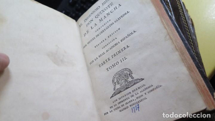 Libros antiguos: 1787. DON QUIJOTE DE LA MANCHA. QUIXOTE. MIGUEL DE CERVANTES. ED. IBARRA. 1787. 6 TOMOS - Foto 19 - 112300263