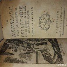 Libros antiguos: LA HENRIADE PAR MONSIEUR VOLTAIRE. Lote 112616383