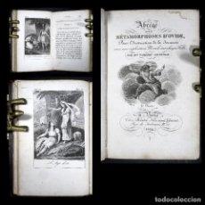 Libros antiguos: AÑO 1824 OVIDIO METAMORFOSIS GRABADOS A PLENA PÁGINA CLÁSICOS GRECOLATINOS ANTIGUA ROMA MITOLOGÍA. Lote 113363243