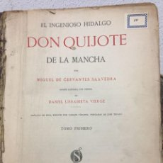 Libros antiguos: DON QUIJOTE. SALVAT, 1916. 2 TOMOS. Lote 113918643