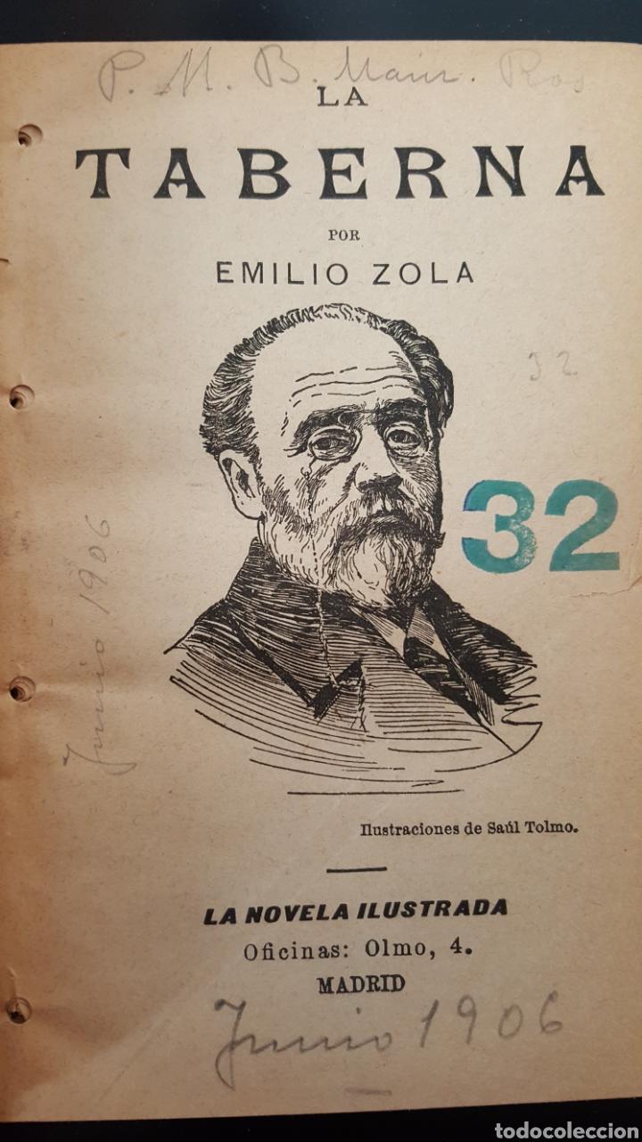 Libros antiguos: Tres novelas de Émile Zola (1906): LA TABERNA, LA RALEA, EL PECADO DEL ABATE MOURET - Foto 2 - 114706843