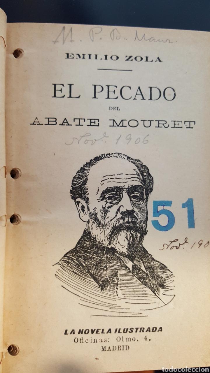 Libros antiguos: Tres novelas de Émile Zola (1906): LA TABERNA, LA RALEA, EL PECADO DEL ABATE MOURET - Foto 3 - 114706843