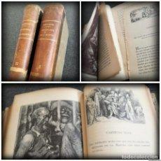 Libros antiguos: DON QUIJOTE DE LA MANCHA - GUSTAVO DORÉ - 2 TOMOS, FINALES XIX, PRINCIPIOS S. XX (VER DESCR Y FOTOS). Lote 115071043