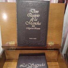 Libros antiguos: EXTRAORDINARIO LOTE EN MUEBLE DE LUJO - DON QUIJOTE DE LA MANCHA Y LA SAGRADA BIBLIA - P&J -FACSIMIL. Lote 115186823