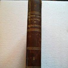 Libros antiguos: LOS NUEVE LIBROS DE HERODOTO-TOMO I.-TRAD. POR BARTOLOME POU-1884-LUIS NAVARRO EDI,. Lote 115324675