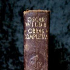 Libros antiguos: OBRAS COMPLETAS - OSCAR WILDE - AGUILAR - PIEL 1954. Lote 116667955