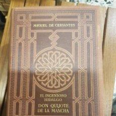 Libros antiguos: EL INGENIOSO HIDALGO DON QUIJOTE DE LA MANCHA,2 TOMOS. Lote 117647671