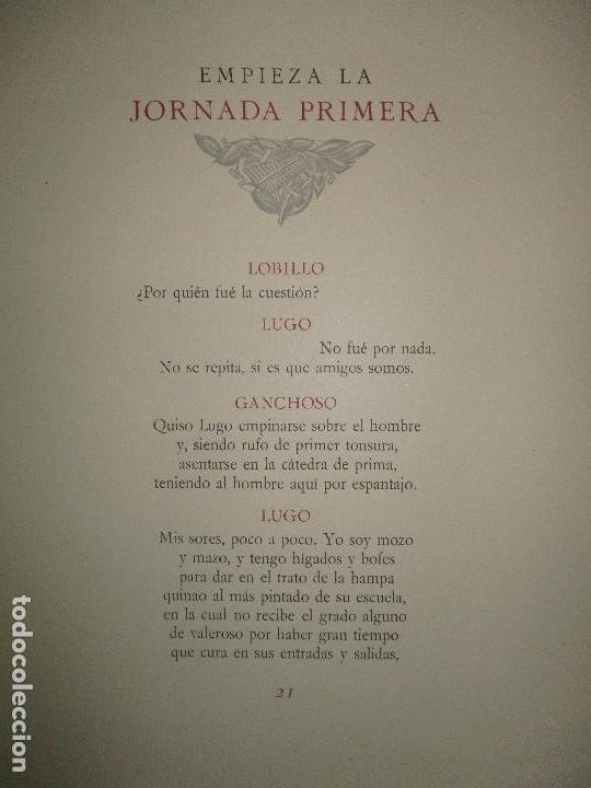 Libros antiguos: EL RUFIÁN DICHOSO. - CERVANTES SAAVEDRA, Miguel de. edicion numerada. Ramon de Capmany. - Foto 8 - 118139299