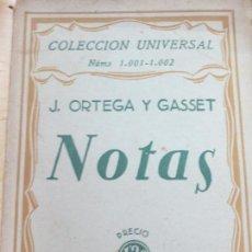 Libros antiguos: NOTAS J. ORTEGA Y GASSET EDIT ESPASA-CALPE AÑO 1936. Lote 118454239