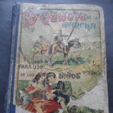 Livros antigos: LIBRO DON QUIJOTE DE LA MANCHA PARA NIÑOS. SUCESORES DE HERNANDO. MADRID 1904. Lote 118781915
