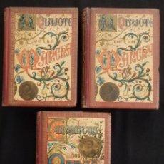 Libros antiguos: EL INGENIOSO HIDALGO DON QUIJOTE DE LA MANCHA. CERVANTES Y SUS OBRAS. (3VOLS.) COMPLETA /F. SEIX E. Lote 119577699