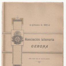 Libros antiguos: NUMULITE A0055 * ASOCIACIÓN LITERARIA DE GERONA GIRONA AÑO XXIV CERTAMEN DE 1895. Lote 120458219