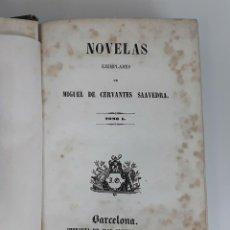 Libros antiguos: NOVELAS EJEMPLARES. 2 TOMOS EN 1. MIGUEL DE CERVANTES SAAVEDRA. BARCELONA. 1844.. Lote 120507835