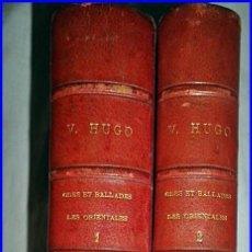 Libros antiguos: AÑO 1875: OBRAS DE VÍCTOR HUGO. 2 ELEGANTES TOMOS DEL SIGLO XIX.. Lote 121064823