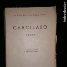 Libros antiguos: F1 GARCILASO OBRAS CLASICOS CASTELLANOS. Lote 121334663