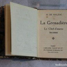 Livros antigos: LA GRENADIÉRE,BALZAC,LIBRAIRIE PAYOT,BIBLIOTHEQUE MINIATURE.. Lote 121381191