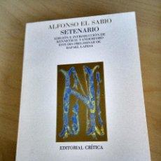 Libros antiguos: SETENARIO. ALFONSO EL SABIO. Lote 121643735
