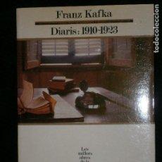 Libros antiguos: F1 DIARIS 1910-1923 FRANZ KAFKA LES MILLORS OBRES DE LA LITERATURA UNIVERSAL SEGLE XX Nº 23. Lote 122533959