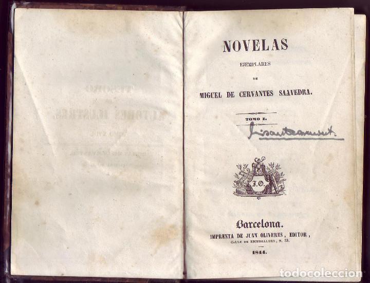 NOVELAS EJEMPLARES. TOMO I. MIGUEL DE CERVANTES SAAVEDRA. BARCELONA. IMP. JUAN OLIVERES, ED. 1844. (Libros antiguos (hasta 1936), raros y curiosos - Literatura - Narrativa - Clásicos)