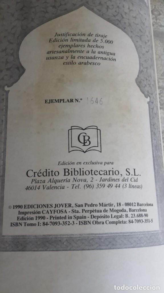 Libros antiguos: Las mil y una noches, 2 tomos, version de Blasco Ibañez, Ediciones Jover - Foto 3 - 123345083