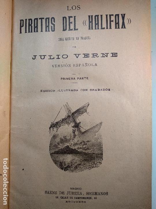 Libros antiguos: OBRAS DE JULIO VERNE - 3 VOLÚMENES - MAS DE 25 DE LOS RELATOS CLÁSICOS - MUY ILUSTRADADOS - - Foto 6 - 124010675