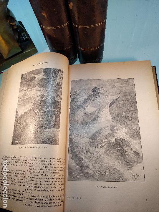 Libros antiguos: OBRAS DE JULIO VERNE - 3 VOLÚMENES - MAS DE 25 DE LOS RELATOS CLÁSICOS - MUY ILUSTRADADOS - - Foto 9 - 124010675