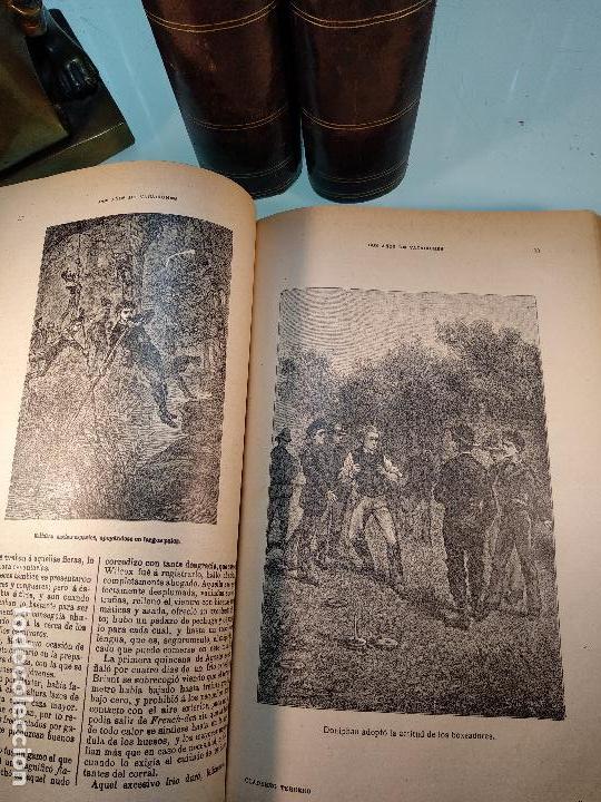 Libros antiguos: OBRAS DE JULIO VERNE - 3 VOLÚMENES - MAS DE 25 DE LOS RELATOS CLÁSICOS - MUY ILUSTRADADOS - - Foto 10 - 124010675