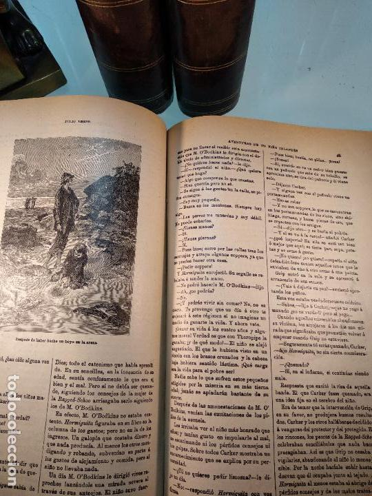 Libros antiguos: OBRAS DE JULIO VERNE - 3 VOLÚMENES - MAS DE 25 DE LOS RELATOS CLÁSICOS - MUY ILUSTRADADOS - - Foto 11 - 124010675