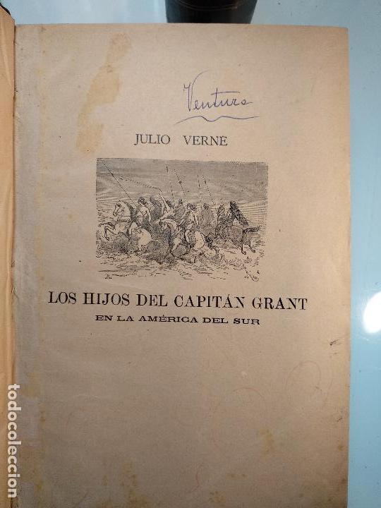 Libros antiguos: OBRAS DE JULIO VERNE - 3 VOLÚMENES - MAS DE 25 DE LOS RELATOS CLÁSICOS - MUY ILUSTRADADOS - - Foto 16 - 124010675