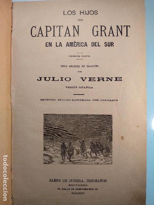 Libros antiguos: OBRAS DE JULIO VERNE - 3 VOLÚMENES - MAS DE 25 DE LOS RELATOS CLÁSICOS - MUY ILUSTRADADOS - - Foto 17 - 124010675