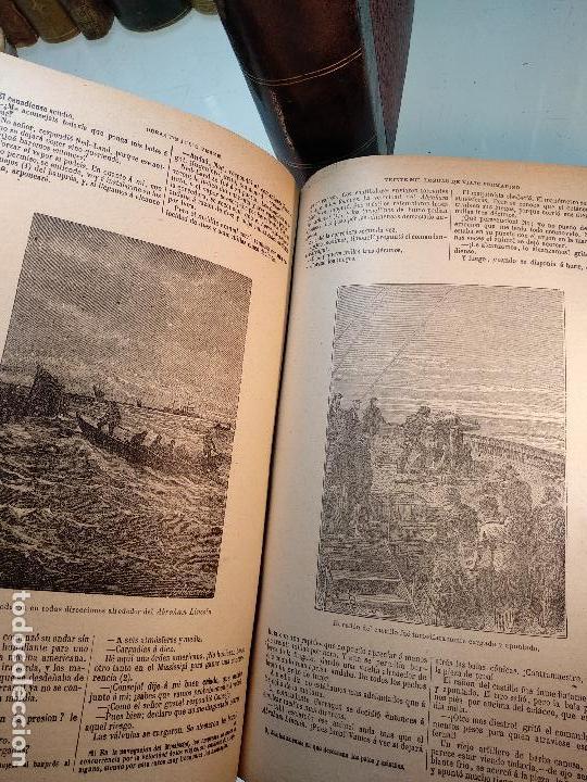 Libros antiguos: OBRAS DE JULIO VERNE - 3 VOLÚMENES - MAS DE 25 DE LOS RELATOS CLÁSICOS - MUY ILUSTRADADOS - - Foto 24 - 124010675