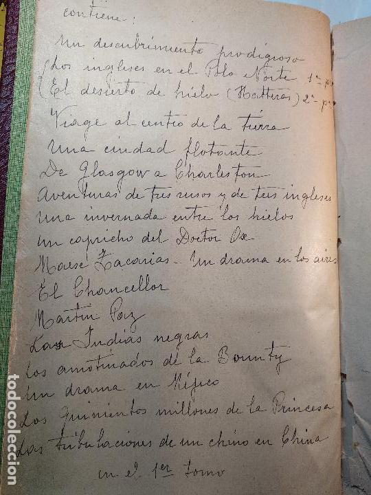 Libros antiguos: OBRAS DE JULIO VERNE - 3 VOLÚMENES - MAS DE 25 DE LOS RELATOS CLÁSICOS - MUY ILUSTRADADOS - - Foto 29 - 124010675