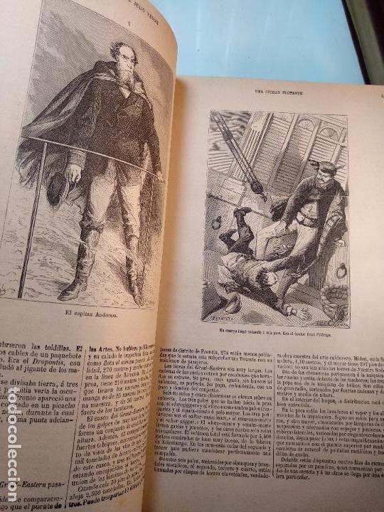 Libros antiguos: OBRAS DE JULIO VERNE - 3 VOLÚMENES - MAS DE 25 DE LOS RELATOS CLÁSICOS - MUY ILUSTRADADOS - - Foto 34 - 124010675