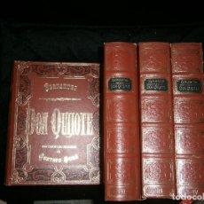 Libros antiguos: F1 DONQUIJOTE DE LA MANCHA MIGUEL DE CERVANTES SAAVEDRA 4 TOMOS. Lote 124018855