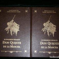 Libros antiguos: F1 EL INGENIOSO HIDALGO DON QUIJOTE DE LA MANCHA TOMO I Y II MIGUEL DE CERVANTES SAAVEDRA. Lote 124021935